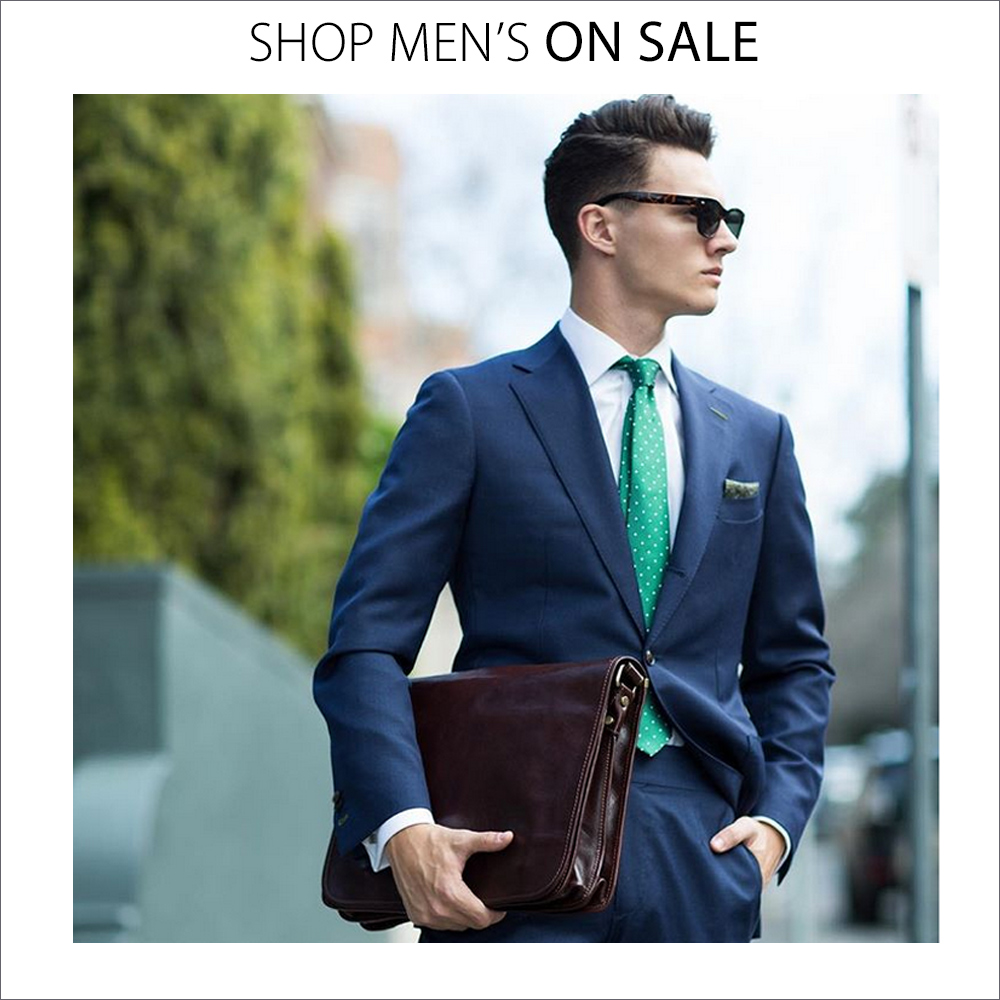 Men's Leather Bags and Wallets on Sale